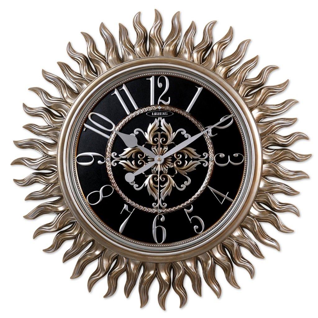 SESO UK- Design Runde Europäische Wand Uhr Wohnzimmer Hanging Quartz Uhren (größe : L:62cm)