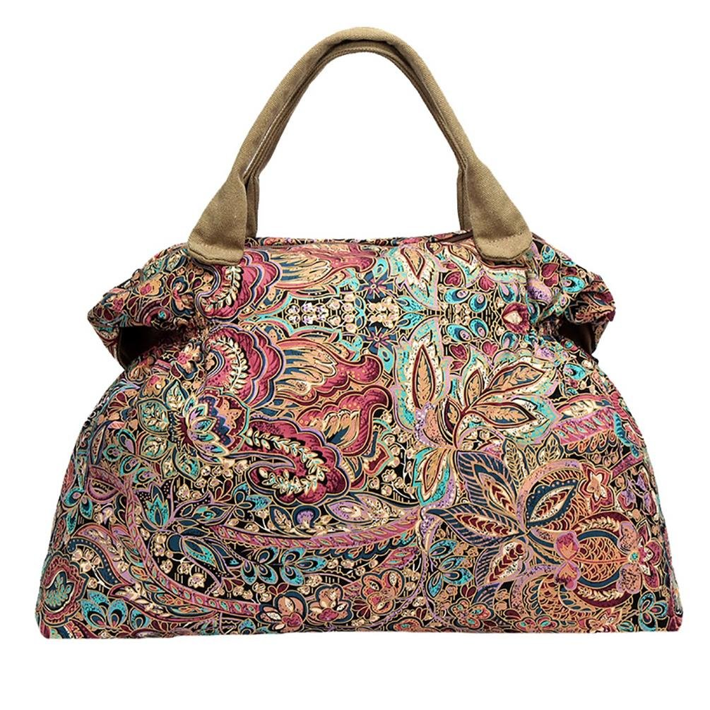 BLACK BUTTERFLY Ladies national wind canvas casual crescent bag handbag shoulder bag