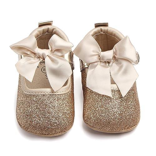 389bfd935b81 Amaping AMA(TM) Toddler Newborn Baby Girls Bling Bowknot Anti-Slip Soft  Sole Princess Crib Shoes Pink: Amazon.ca: Shoes & Handbags