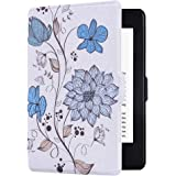 Huasiru Painting Case for Kindle Paperwhite, Flowers - fits All Paperwhite Generations Prior to 2018 (Will not fit All-New Paperwhite 10th Generation)