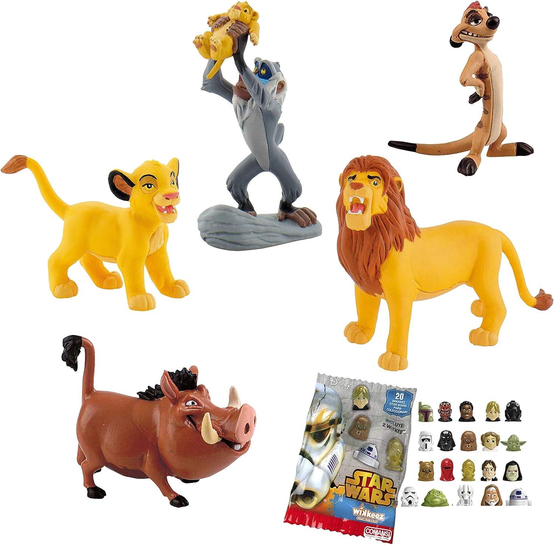 Lote 5 Figuras Comansi EL Rey Leon. Simba Cachorro - Simba Adulto ...