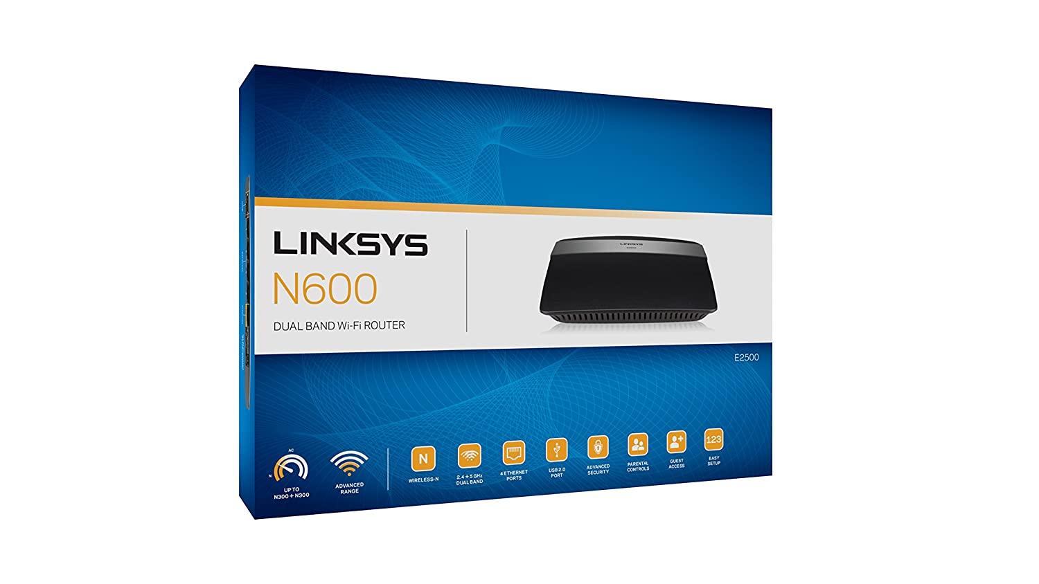 Linksys N600 Dual Band Wireless Router (E2500-CA)