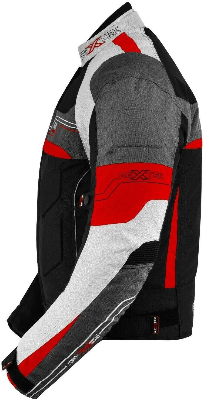 XS 100/% beste Passform f/ür Motorradfahrer Schwarz Jacke aus Cordura-Stoff mit abnehmbarer CE-R/üstung Motorrad Motorradjacken f/ür Herren Sportzubeh/ör Allwetter New Look Rot