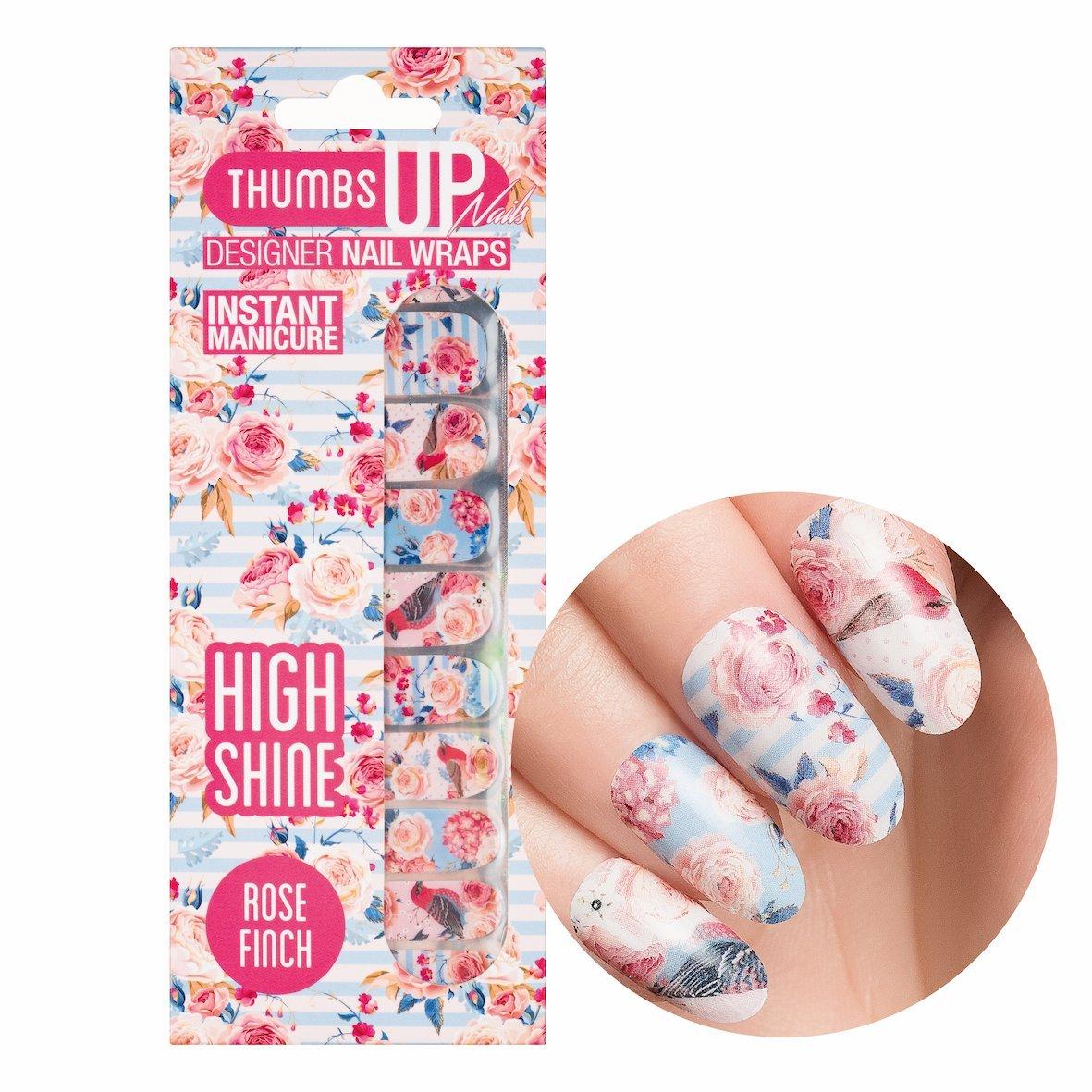 ThumbsUp Nails Rose Finch Vintage Floral Nail Wraps / Self-adhesive ...