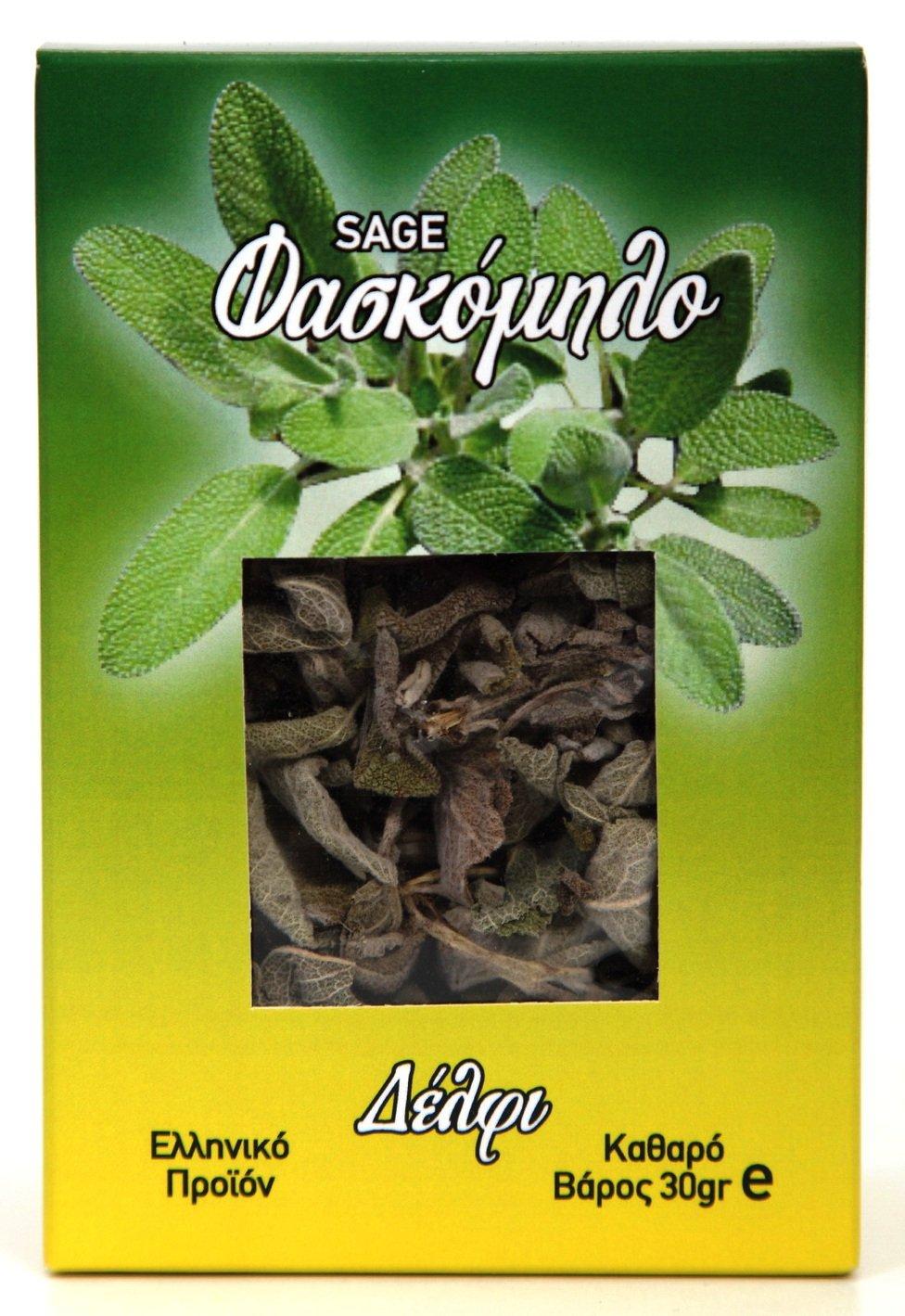 Sage Faskomilo Delphi 30gr 1.06oz Greek Product