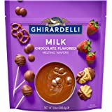 Ghirardelli Melting Chocolate Wafers Milk Chocolates for Candy Dipping and Baking, 10 Ounce