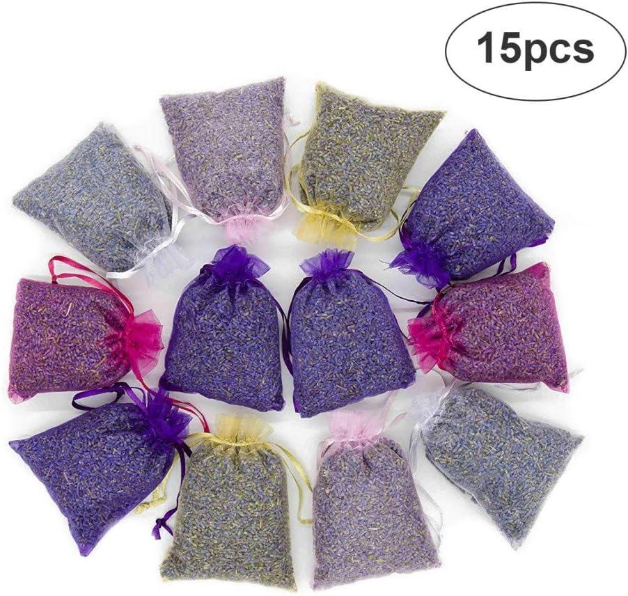 Ambientador para armario de bolsos de pequeñas bolsas perfumadas con botones florales de lavanda seca – Bolsitas de lavanda perfumadas para boda, casa, cómodas, ideas de regalo Mix: Amazon.es: Hogar