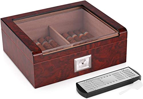 Woodronic-Handmade-Glass-Top-Cigar-Humidor-for-30-50-Counts