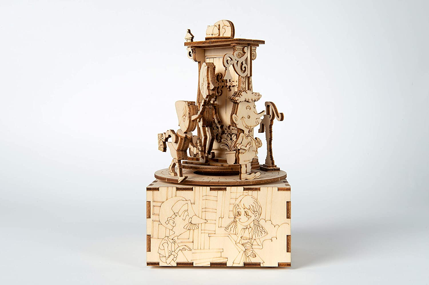 Pinocchio Music Box 3D Puzzle #3 Geppetto /& The Coat Laser Cut Wooden kit Kardamom