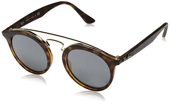 c5dca20c59 Ray-Ban 0Rb4256 Gafas de sol, Redondas, 46, Matte Havana: Amazon.es ...