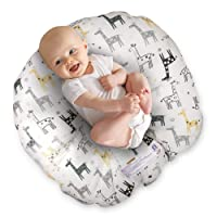 Boppy Original Newborn Lounger, Gray & Gold Giraffe