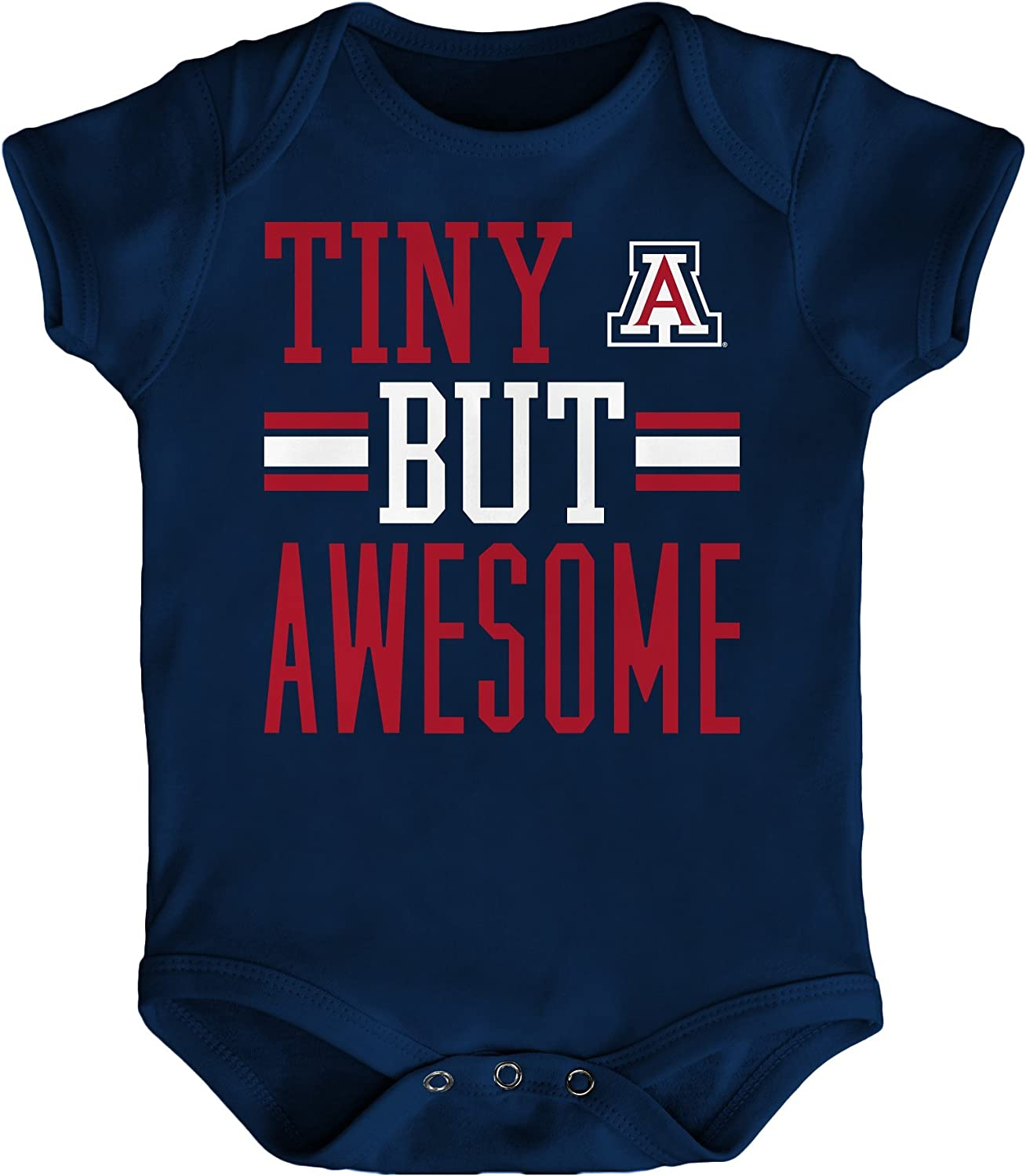 NCAA by Outerstuff NCAA Boys Tiny But Awesome Short Sleeve Onesie