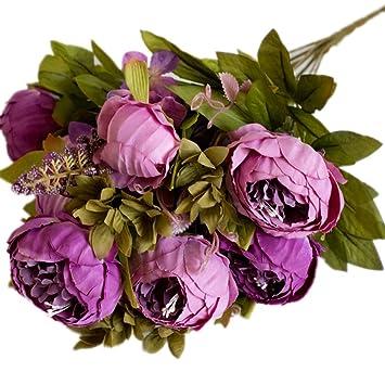 Amazon Com Hosaire Artificial Flowers Vintage Peony Silk Flowers