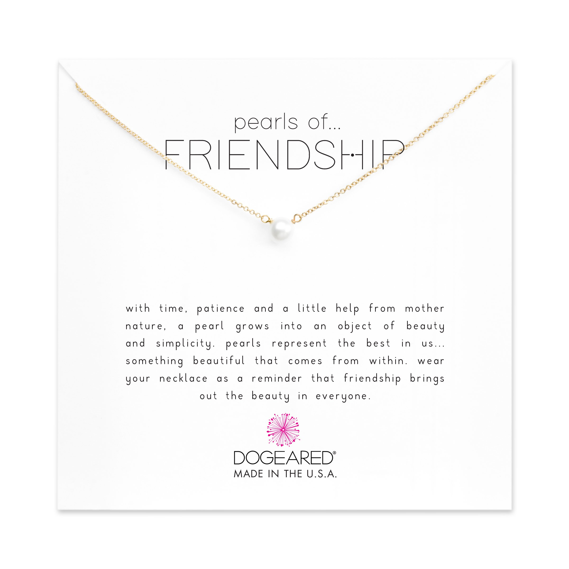 Dogeared Pearls Of Friendship Freshwater Cultured Gold Filled 16'' Boxed Necklace