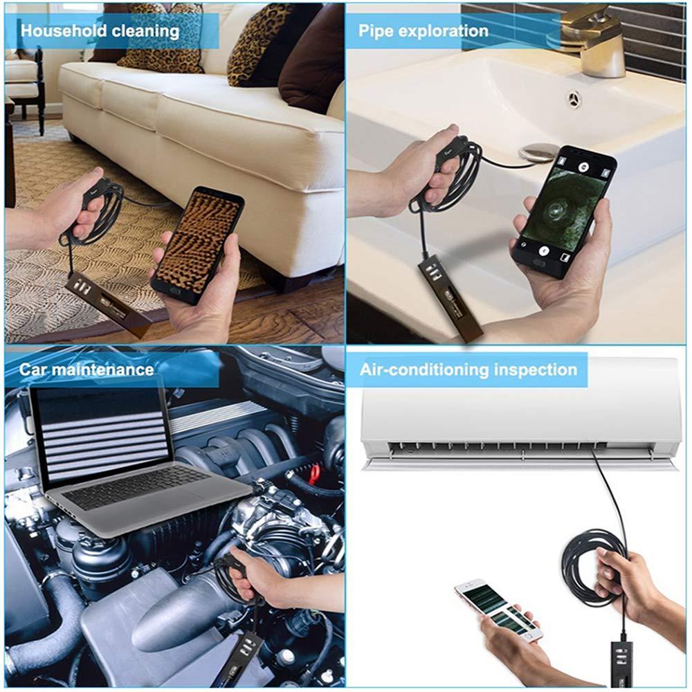 Endoscope Wifi Usb 1200P HD Endoscopique Cam/éra IP68 Cam/éra dinspection 32.5 FT C/âble Ssemi-rigide Compatible avec IOS Android Smartphone Tablette PC