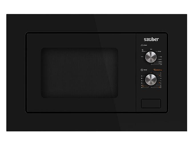 Sauber - Microondas con grill integrable HMS01B - 20 litros - Color Negro