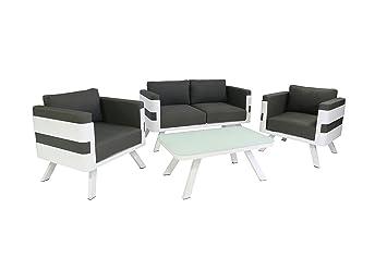 Moderne loungemöbel indoor  Amazon.de: Ribelli Gartenmöbel Set aus Aluminium - Loungemöbel 4 ...
