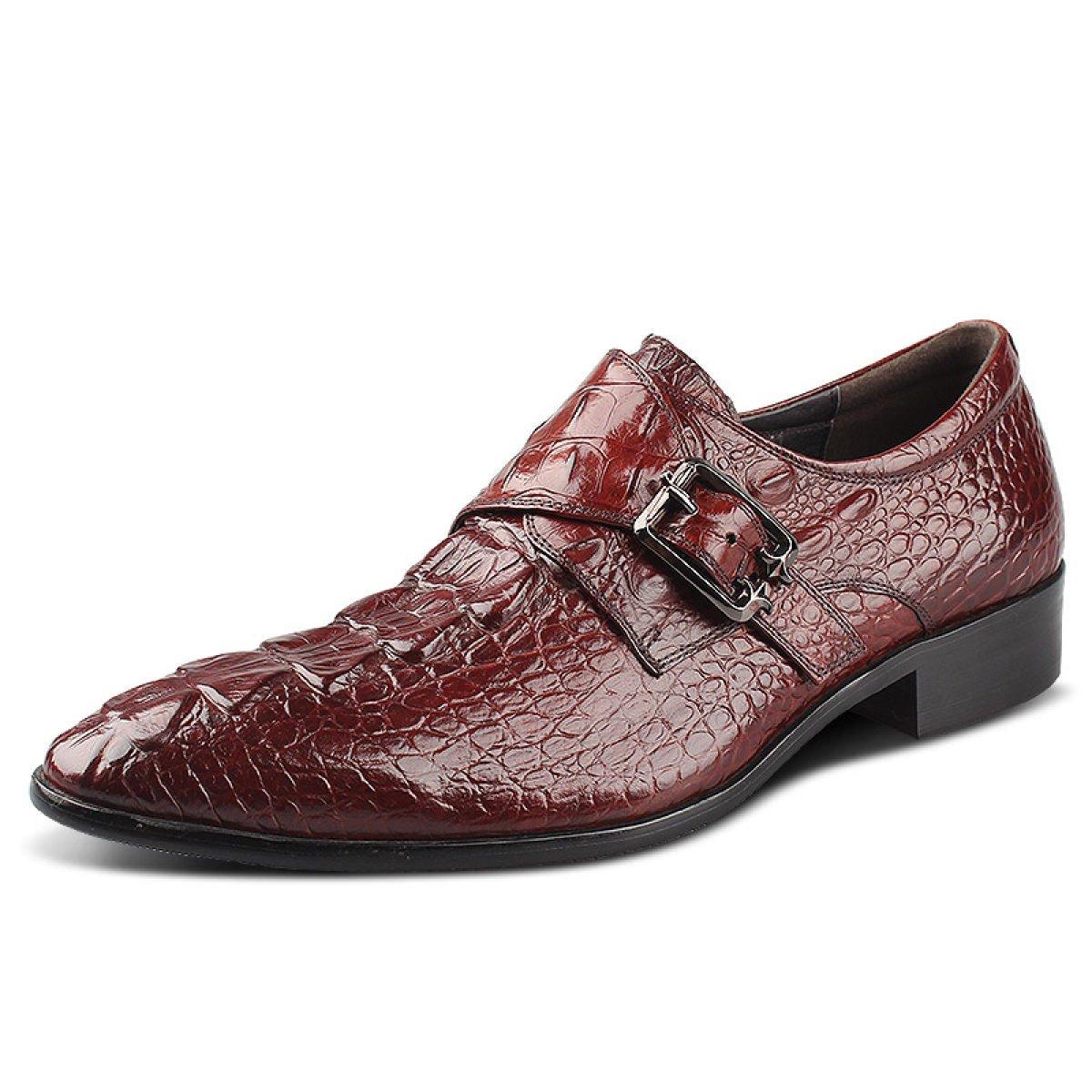 new product 740a2 37782 GRRONG Herren Business-Kleidung Schuhe Britische Schuhe Hochzeit Schuhe  42 Redwine