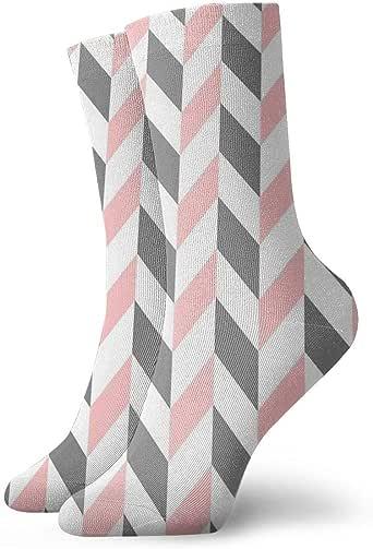 HOKZONB - Calcetines de cheurón para hombre, color blanco