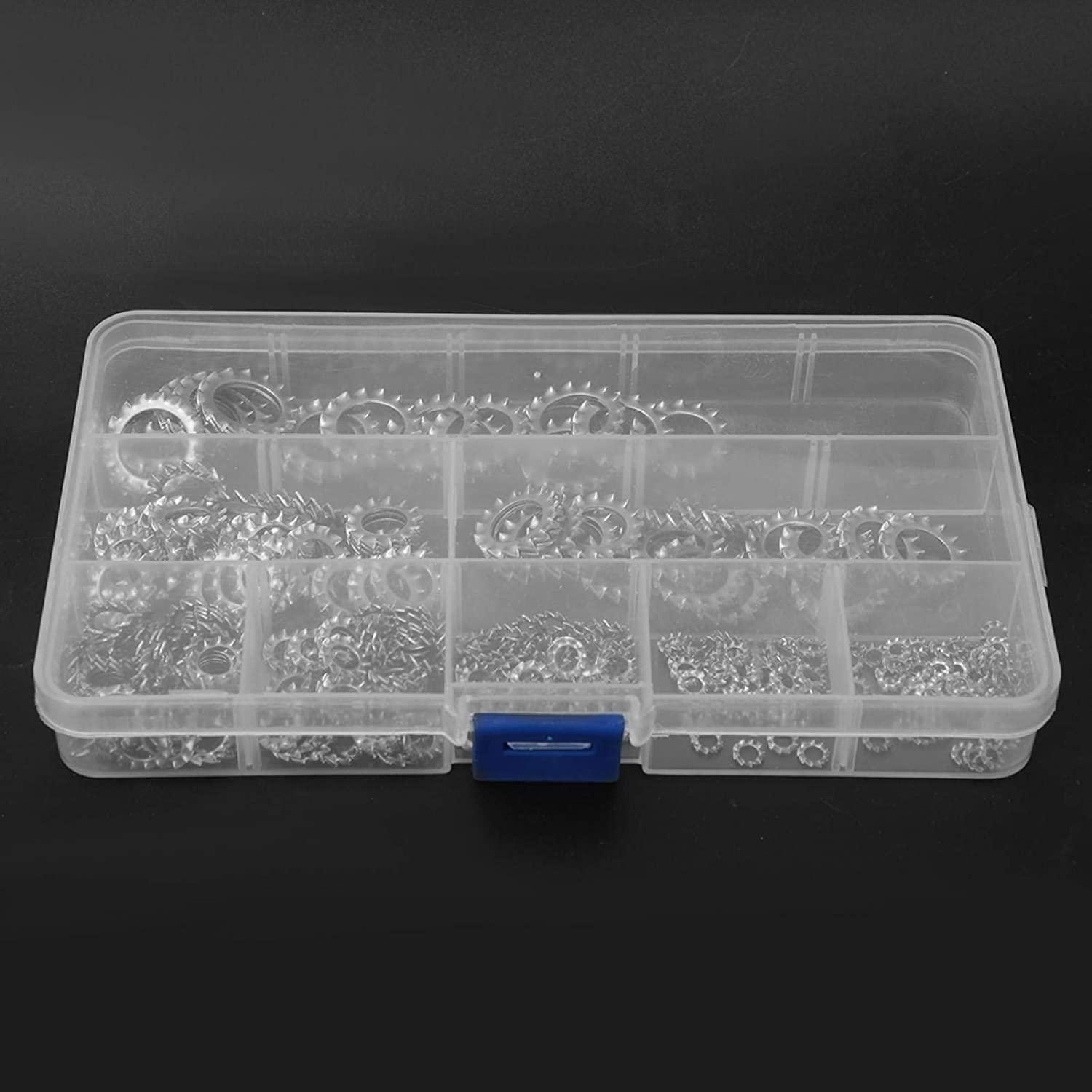 Marine uses for Electrical Connections for Automotive Connection Serrated Washer SALUTUYA 300 Pcs with a Box Anti-Loose Washer