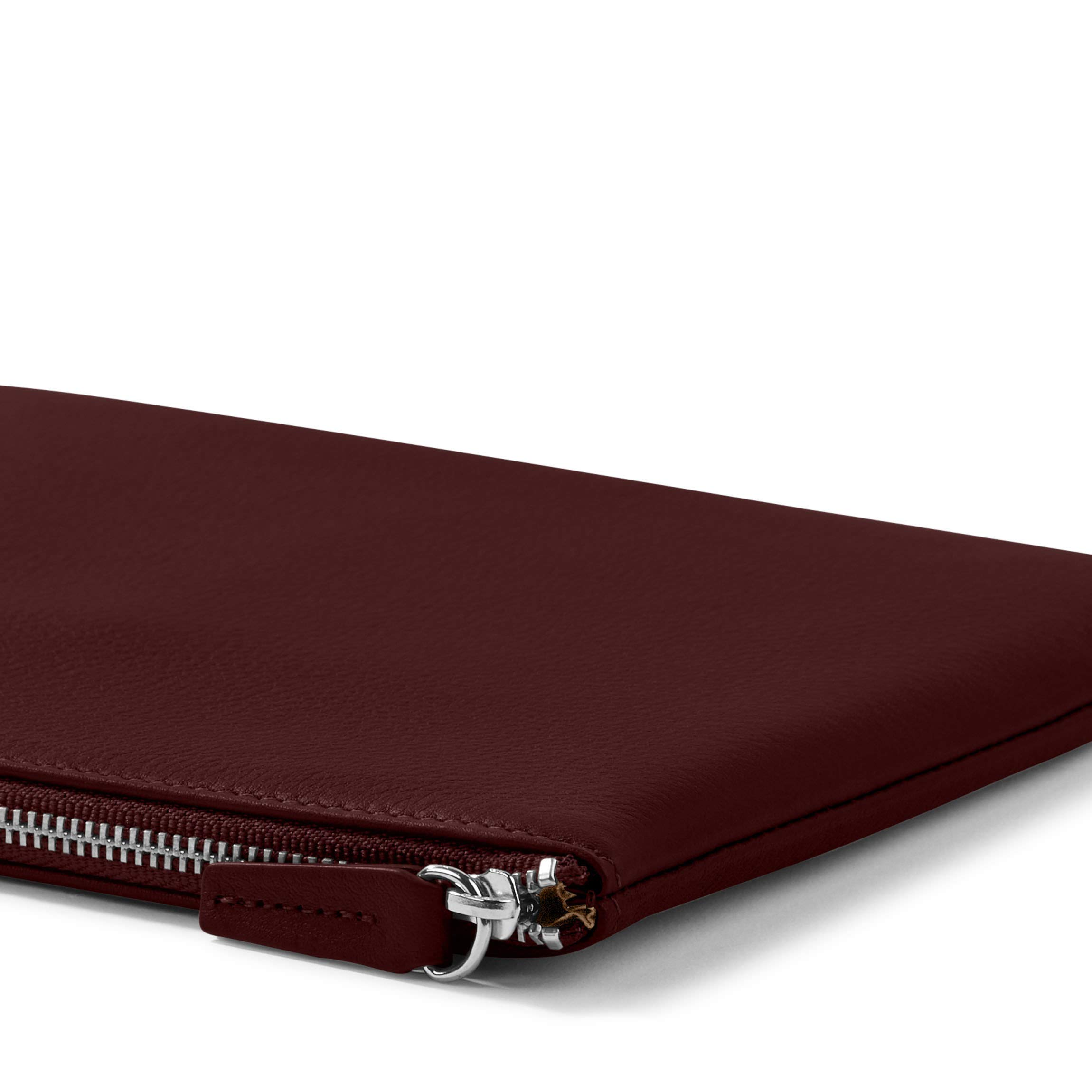 Medium Pouch - Full Grain Leather Leather - Bordeaux (Red) by Leatherology (Image #3)