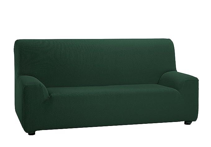 Texturas VIP- Funda de sofá Elástica Low Cost (Varios tamaños Disponibles) (Dúo_3_+_2, Verde)