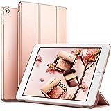 iPad Air 2 Hülle, ESR® Yippee Bildserie Auto aufwachen / Schlaf Funktion Wickelfalz Ledertasche mit Lichtdurchlässig Rückseite Abdeckung Schutzhülle für iPad Air 2 / iPad 6 (Roségold)