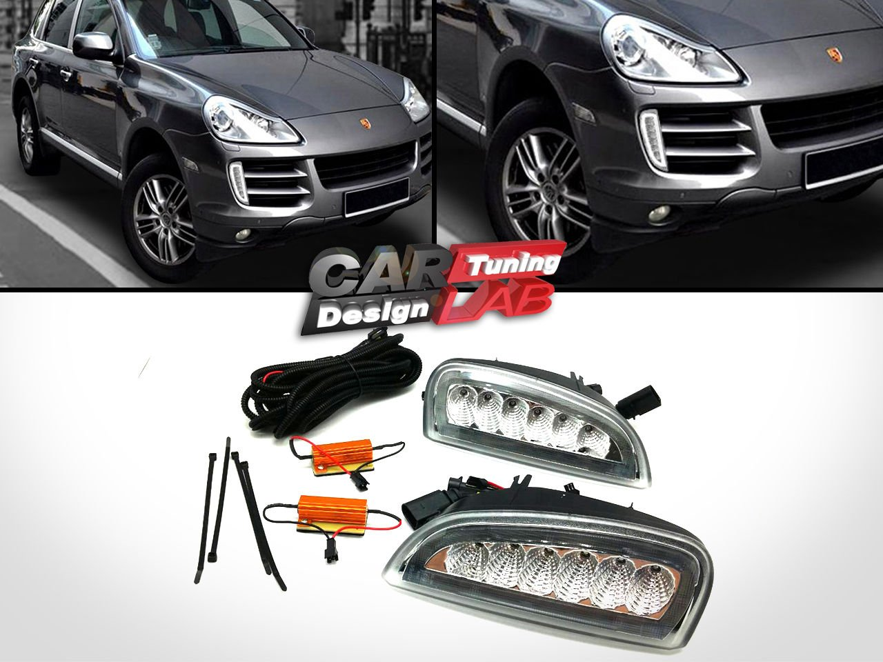 (2) doble funcin frontal LED DRL diurna luces + LED mbar Indicadores: Amazon.es: Coche y moto