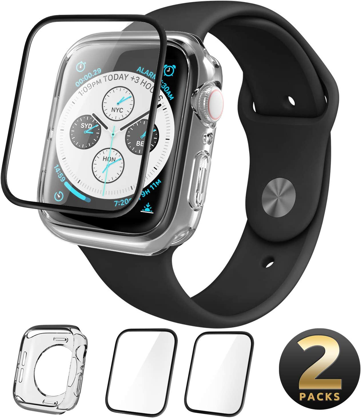 Protector De Pantalla Apple Watch 44mm Series 5 2019 (xam)