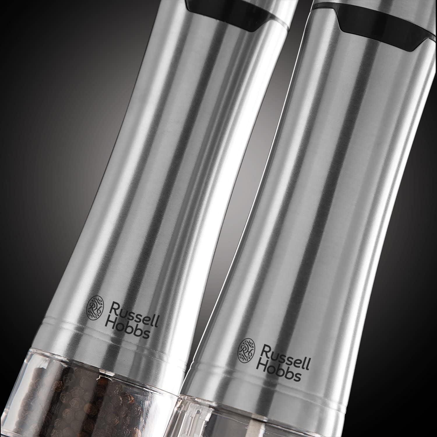 Russell Hobbs 23460-56  Stainless Steel Electric Salt /& Pepper Grinder Mill Set