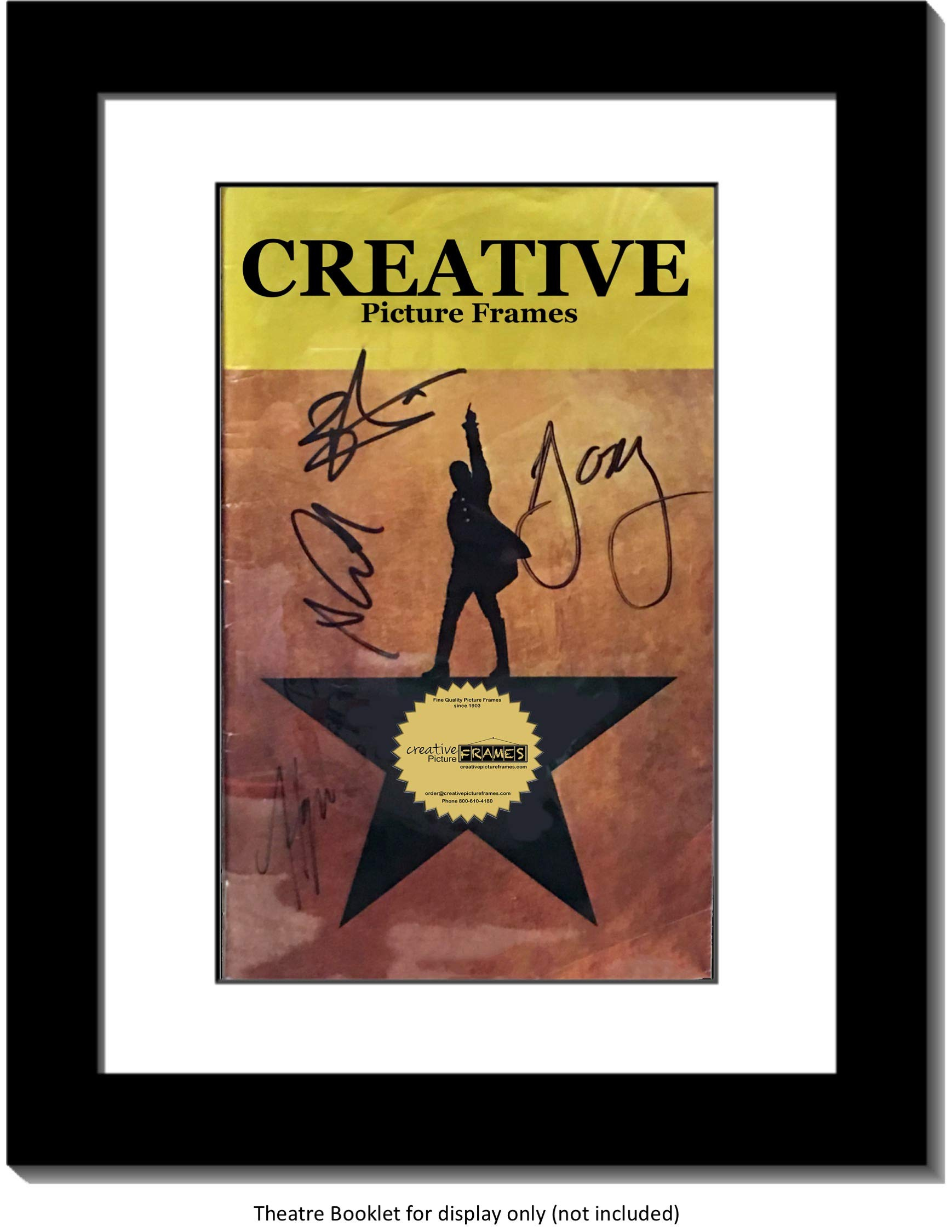 Creative Picture Frames [8.5x11bk-w Black Theatre Frame with White Matting, Holds 5.5x8.5-inch Media with Installed Hanger and Stand (Theatre Bill Not Included) by Creative Picture Frames