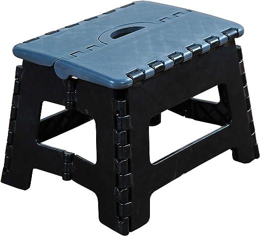 Kesper 70532 - Escalera Plegable (plástico, 35 x 27 x 22 cm), Color Gris y Negro: Amazon.es: Hogar