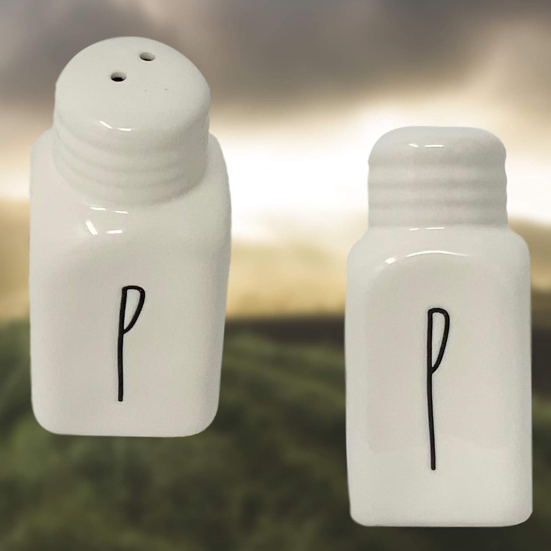 Ceramic Pepper Shakers Set Rae Dunn BUTTER and Salt Very rare!