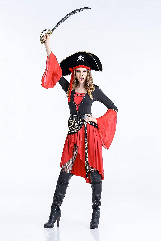 DDDD store Mujeres Disfraz de Pirata -Carnaval Disfraz Cosplay ...