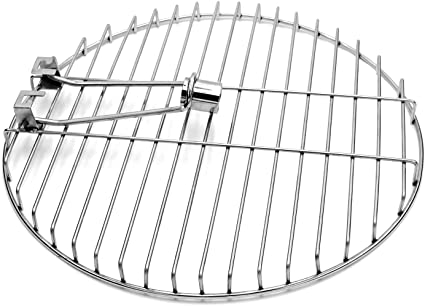 Warming Round Solid Rod Stainless Steel 13.5 Inches Stainless Steel Cooking Grate with Swivel Shaft for Char-Griller 16620 and Kettle Charcoal Grill