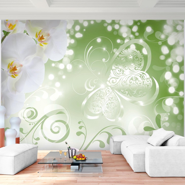 Salon Appartement Photo dart 9076011c Papier peint intiss/é Fleurs dorchid/ée 352 x 250 cm Tapisserie Decoration Murale XXL Poster