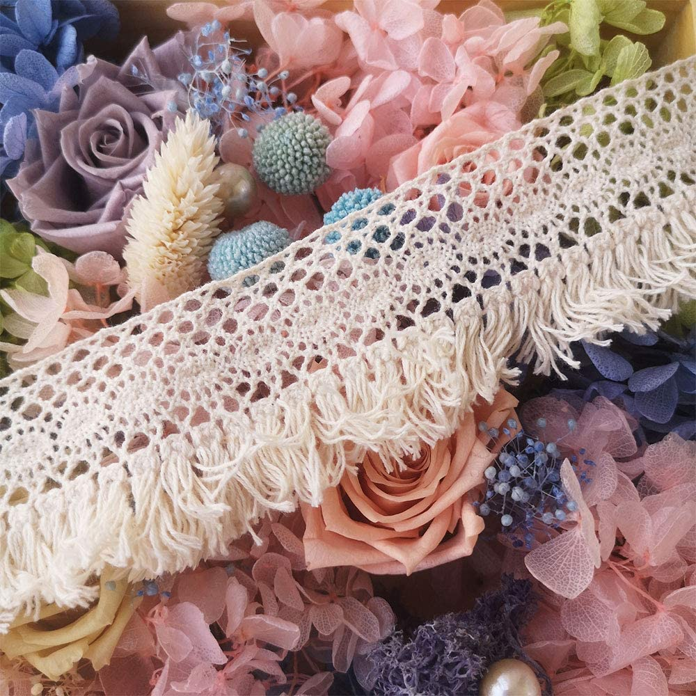 Cotton Tassel Fringe Trim Lace Trim Ribbon DIY Craft 10 Yards