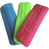 3 x mop in microfibra Veewon Reveal Pulizia Pad Adatto a tutti i mop spray e Mop lavabili – 41,9 x 13 cm
