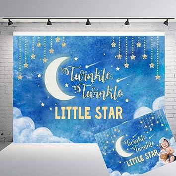 Mehofoto Twinkle Twinkle Little Stars Backdrop Blue Moon Background Children