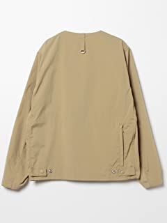 Polyester Collarless Fishing Jacket 11-18-3250-803: Khaki