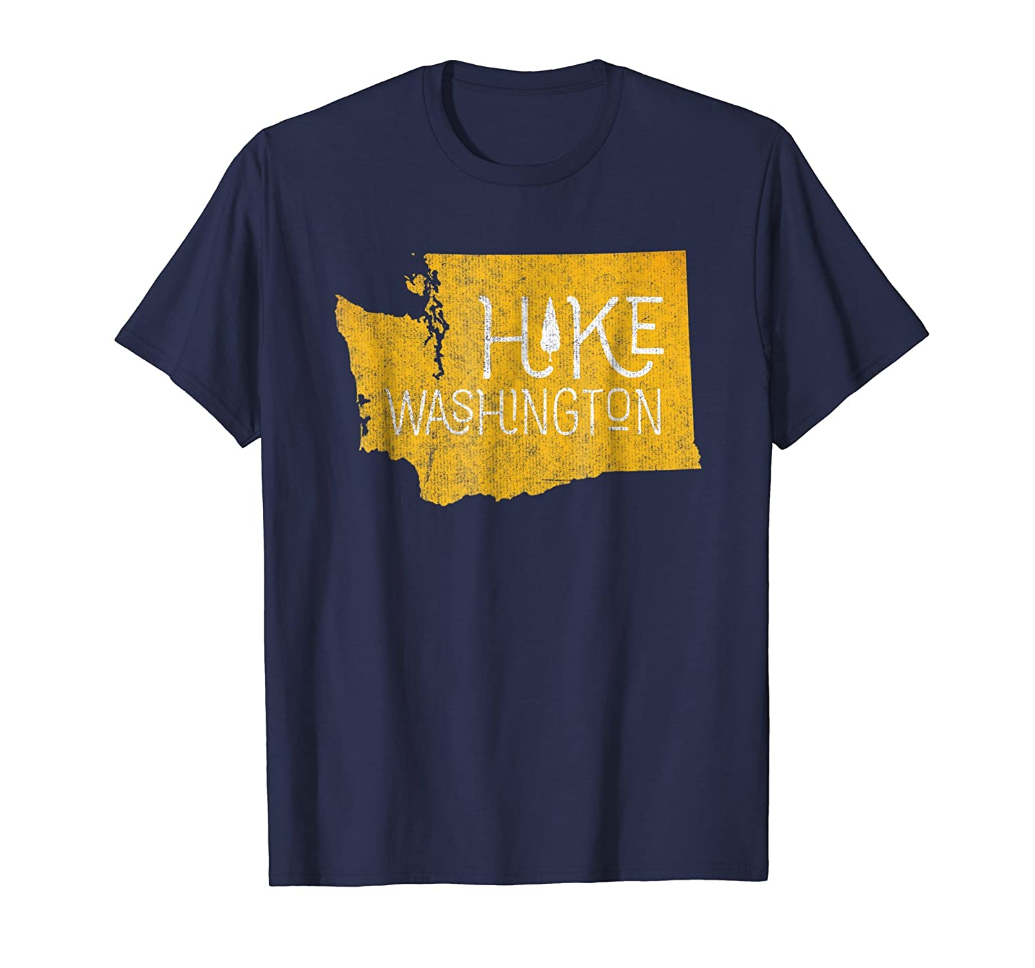 Vintage Hike Washington Nature Adventure Explore T-Shirt-fa