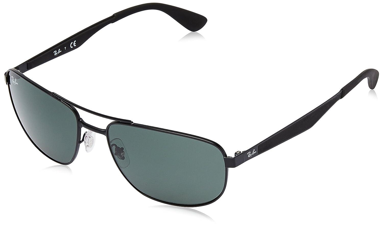 63859cb760 Ray-Ban Metal Sunglasses in Matte Black Polarised RB3528 006 82 61   Amazon.co.uk  Clothing
