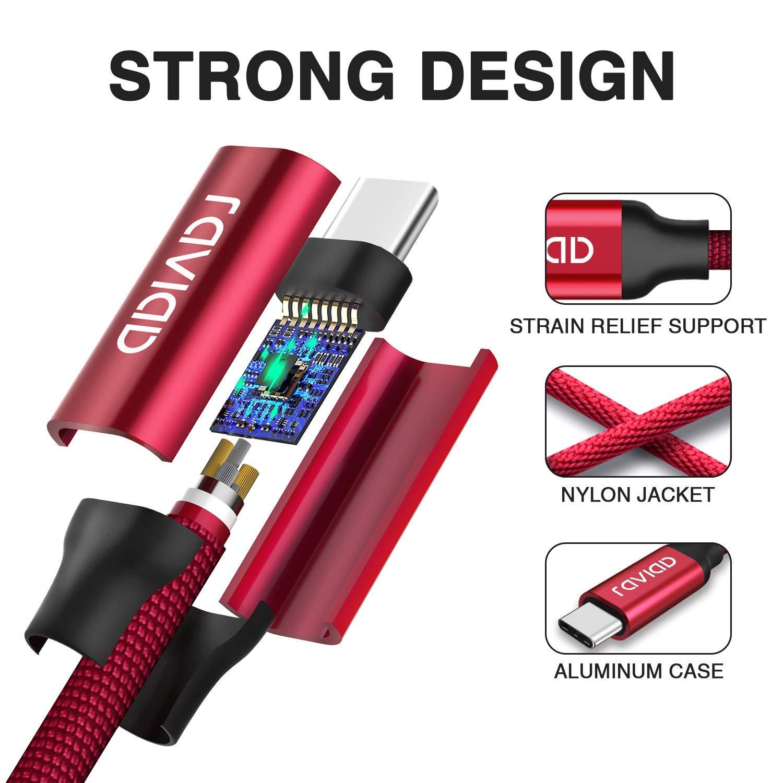 Google Pixel 3Pack, 1M 2M 3M Huawei P30 P20 Mate20 RAVIAD Cable USB Tipo C, Cargador USB Tipo C de Nylon Trenzado Carga R/ápida y Sincronizaci/ón para Galaxy S10//S9//S8 Plus Note9 Xperia XZ