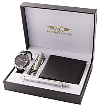 Montre-Concept - Men's watch gift set with multi-fonction knife ...