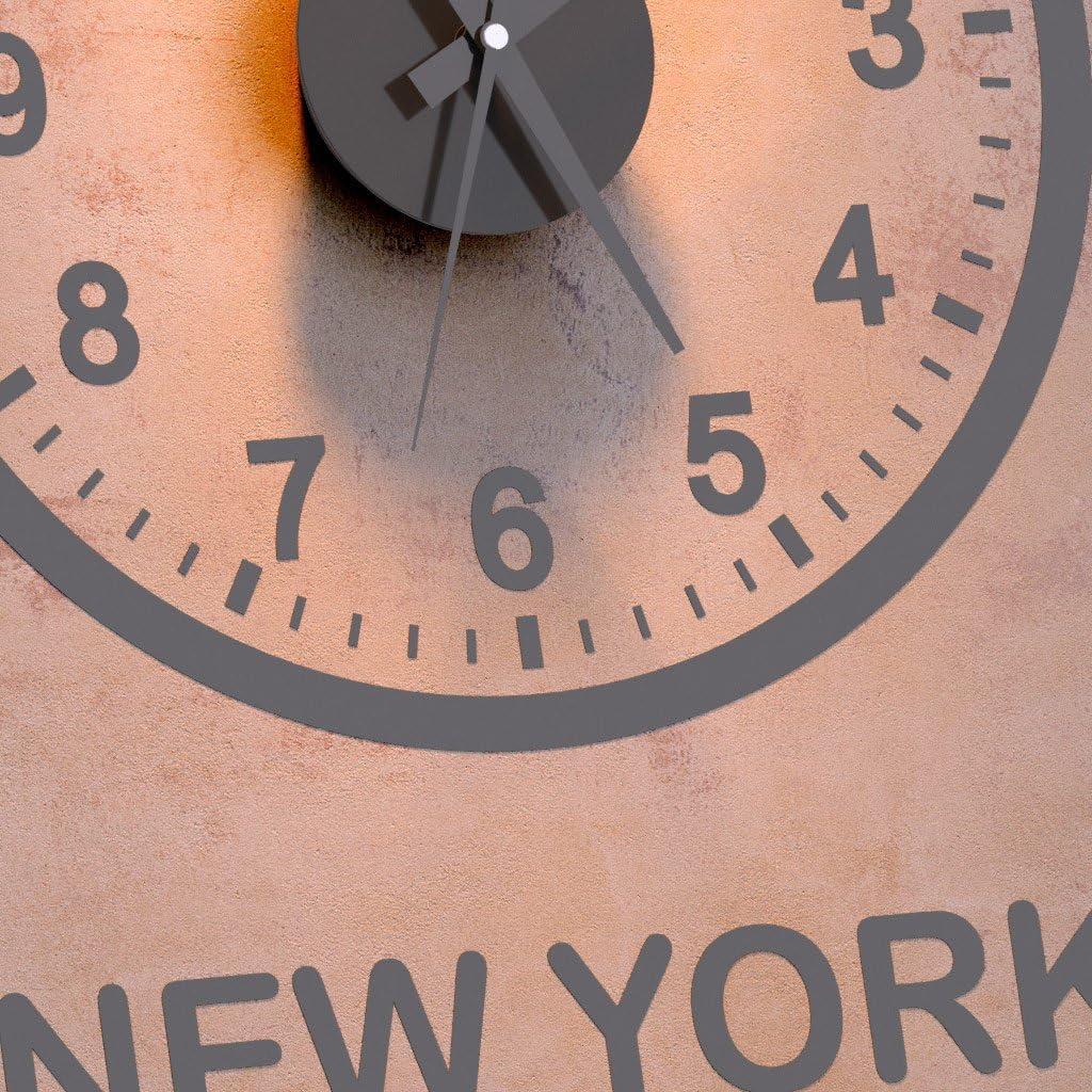 Balvi/-/Set/Horloge/Murale/World/Clock./Il/Comprend/Trois/horloges/circulaires./London-Paris-New/York./Aliment/é/par/3/Piles/AA.