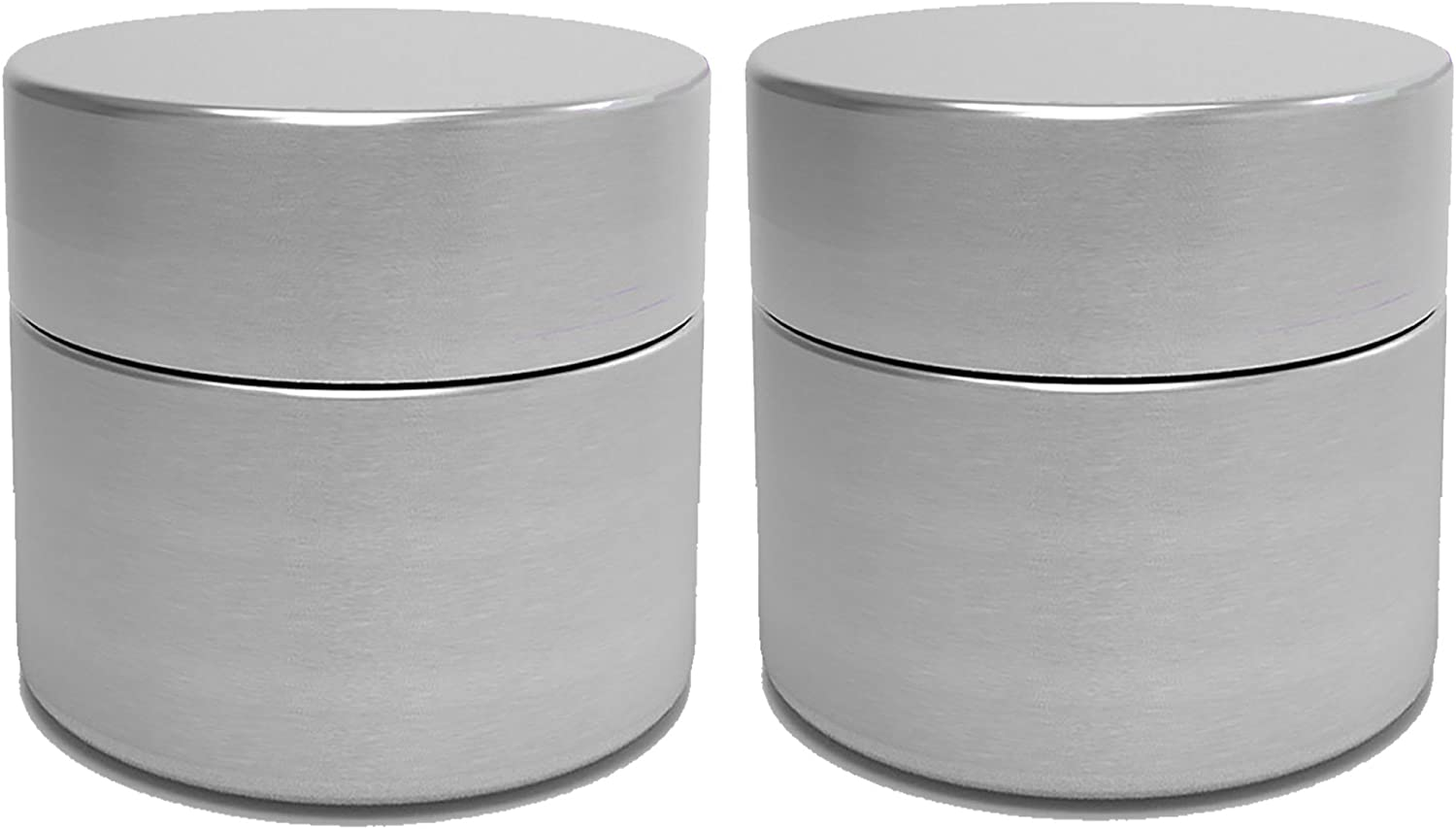 Herb Stash Jars | 2 Solid Aluminum Airtight Smell Proof Containers #1 Best Way To Preserve Spices & Herbs
