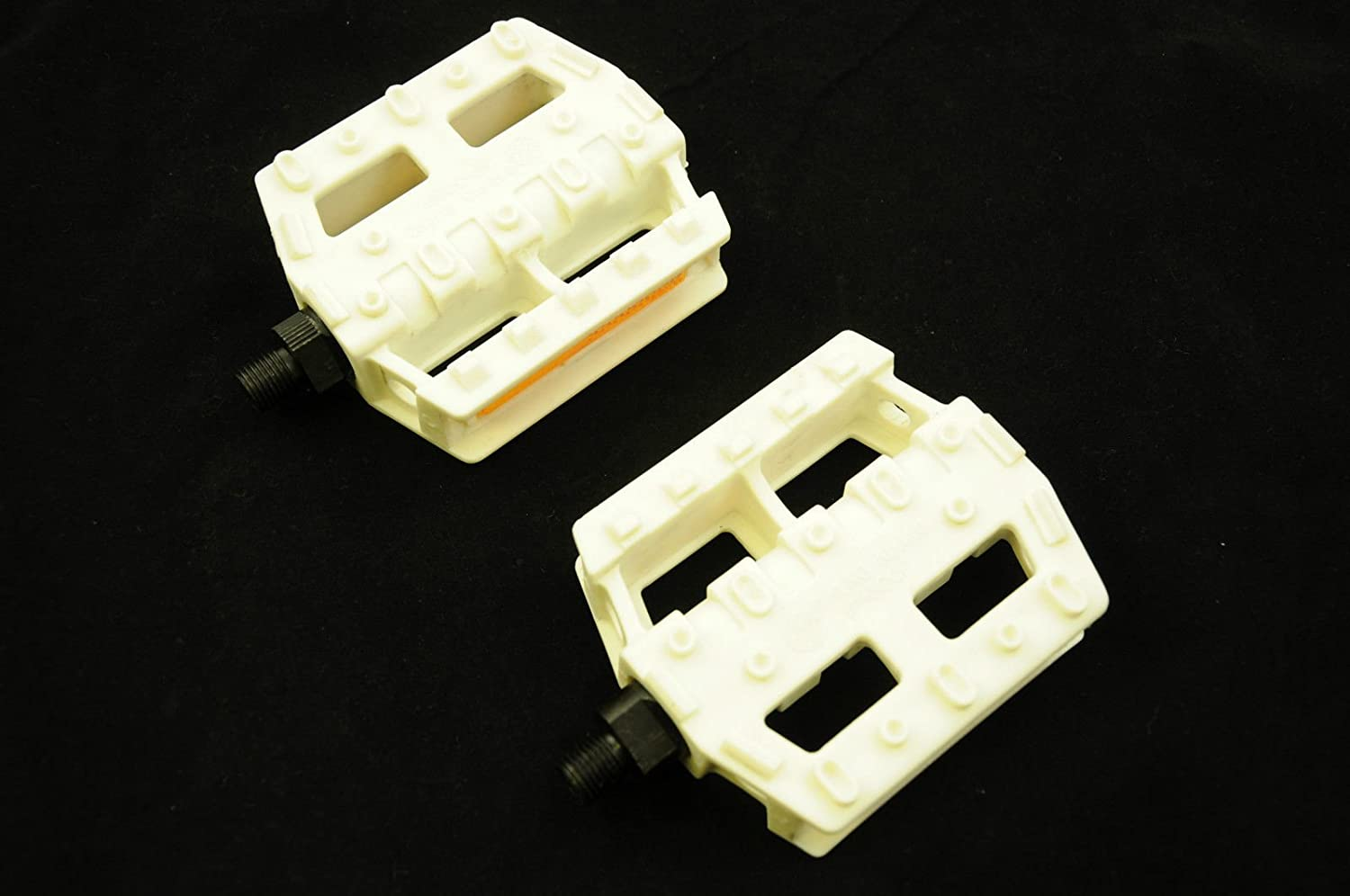 """MASTER FST RARE OLD SCHOOL BMX PEDALS VP-300P HUNG KUANG WHITE 1//2/"""" NOS HARO"""