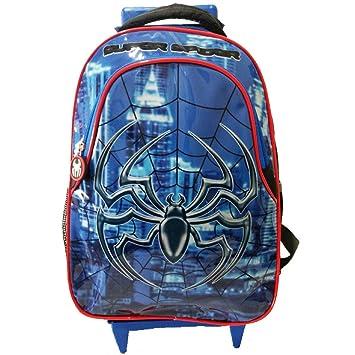 8c381fb016 Mochila Escolar Homem Aranha de Rodinhas Spider Seanite  Amazon.com ...