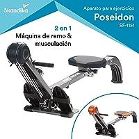 skandika Regatta Multi Gym Poseidon - máquina Remo - Plegable - Sistema de Freno silencioso - Peso 17 kg
