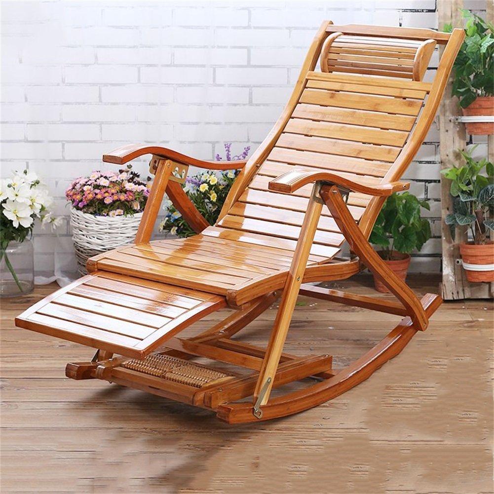 Mode Folding Recliner Old Man Freizeit Stuhl Home Balkon Multifunktions Freizeit Nap Bamboo Chair Sitz